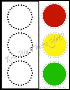 FREE Traffic Light Cut & Paste Printable