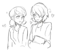 I ship them so don't hate me for it buttttt i ship her with adrien to, its really difficult to choose one xD