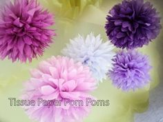 Do It Yourself Tissue Poms for your wedding- How To, DIY Wedding www.ForeverBride.com - YouTube