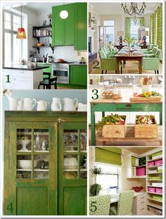 The kitchen top left is a good inspiration for the revamp...