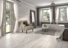 Pavimento imitación madera antideslizante intermedio Life Artic