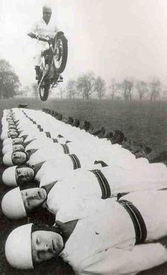 Crazy motorcycle jump