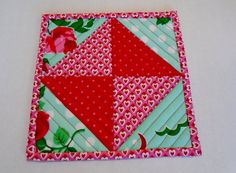 Valentine Mug Rug Coaster Snack Mat Mini by ForgetMeNotQuilteds