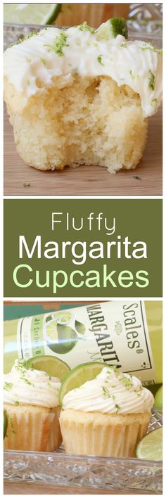 Fluffy, From-Scratch Margarita Cupcakes This fluffy cake is amazing. # cake # fluffycake # margaritafluffycake