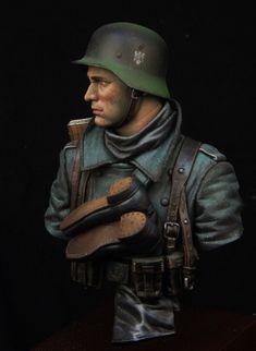 Alemán soldados de infantería Segunda Guerra Mundial, invierno 1941.