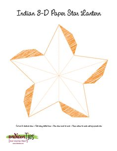 Indian light star - free pattern to DIY @Alicia Anne- I wonder if we could make these and put them on a string of lights?