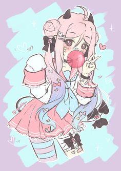kawaii, anime girl cute, and pastel image