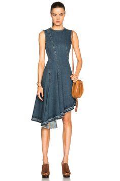 Image 1 of Marni Asymmetrical Jean Dress in Blue Denim Jacket With Dress 77b22520a19f