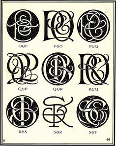Monograms & Ciphers by AA Turbayne 1912 m by peacay, via Flickr