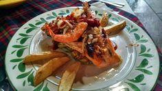¿Qué tal un exquisito salmón a las brazas? Sólo en el restaurante La Cabaña de Quirino @AtotoElGranHgo @SECTUR_mx