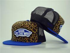 Casquette Vans Maille Snapback Leopard Bleu Casquette New Era Pas Cher