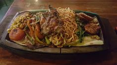 Grilled Chicken Sizzler with Noodles