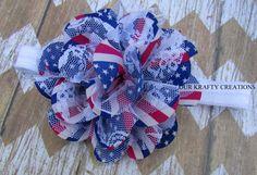 Flag Print, Baby Girl Headband, Headband for Baby, Newborn Headband, Photo Shoot Prop by OurKraftyCreations on Etsy