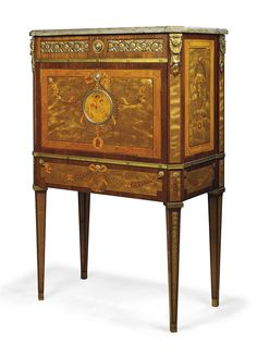 A SWEDISH AMARANTH, SYCAMORE, AND STAINED MARQUETRY MEDAILLIER SECRETAIRE A ABATTANT -  AFTER THE MODEL BY GEORG HAUPT, BY GUSTAF L. SAHLHOLM, DATED 1895