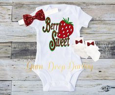 Personalized red glitter maltese cross firefighters girl daughter baby shower gift new baby gift berry sweet strawberry baby strawberry top negle Choice Image