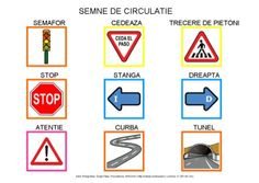 Semne de circulatie by Dana Horodetchi, via Slideshare Romanian Language, Learning, Languages, School, Autism, Cards, Cabinet, Idioms, Clothes Stand