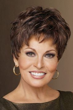 Winner Elite by Raquel Welch is a pixie with barely waved layers that's perfect for every occasion. Loved for its simplicity, Winner offers a wispy bang, textur Short Shag Hairstyles, Short Hairstyles For Women, Weave Hairstyles, Short Hair With Layers, Short Hair Cuts For Women, Wig Styles, Curly Hair Styles, Raquel Welch Wigs, Synthetic Wigs