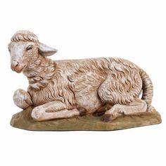 Oveja sentada para pesebre 45cm, Fontanini | venta online en HOLYART Mexican Christmas Traditions, Camelo, Spanish Culture, Clay Animals, Christmas Inspiration, Wood Crafts, Sheep, Nativity, Lion Sculpture
