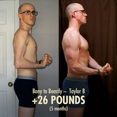 The bony to beastly full ebook second edition mens fitness taylors 26 pound ectomorph weight gain transformation before after photo fandeluxe Choice Image