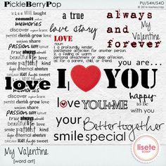 My Valentine Word Art By Lisete Scrap