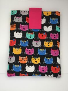 Cat Emoji Book GoGo Book Sleeve - Small & Large Sizes by totesaGoGo on Etsy