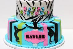 Gymnastics Cake   ... Gymnasts - by CakesbyKerrin @ CakesDecor.com - cake decorating website