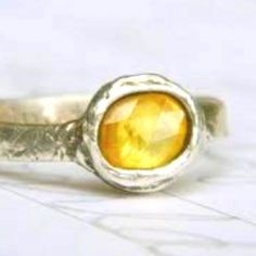 Yellow sapphire wedding ring
