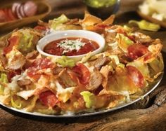 Old Chicago Italian Nachos ~ Just looking at this makes my mouth water. So incredibly delicious and it is HUGE! You could order this as a meal for 2 people to share. Definitely going to try making this at home!