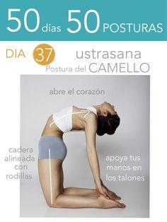 ૐ YOGA ૐ ૐ Ustrasana ૐ  50 días 50 posturas. Día 37. Postura del Camello.