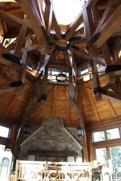 Timber Frame Accent on our North Rock Home #TimberFrame #Log #Custom #Accent #NorthRock #DiscoveryDreamHomes
