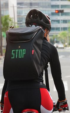 Hey, Cyclists: This LED-Powered Backpack Could Save Your Life | Co.Design | business + design #Bicycles #PatternPod