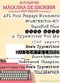 Tipos De Letra Tipografía Efecto Máquina De Escribir Letras