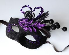 Bewitching Tumble - Halloween, Fairy, Mardi Gras, venetian or masquerade mask.