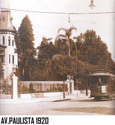 Vista da esquina da Alameda Campinas , em 1920