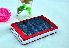 HYT Mart 30000mAh Solar Power Bank Backup Battery Charger for GPS PDA Mobile Phone, Red  Description:     ? Solar Plate Current:18.5Wh (Crystalline silicon)   Cell type: Li-polymer battery   Capacity: 30000mAh   Input: 5.0V DC output: 5.0 V DC 1000mA   Important Tip: First before using this product.Ensure For this product is Full power     Features:   Built-in 30000mAh high capacity rechargeable Li-Ion battery.    30000mAh capability, powerful with long operation time. High efficienc..