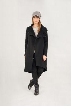 Płaszcz ROBIN LONG black
