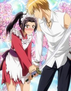"This is from the anime ""Kaichou wa Maid-sama!"" The couple in the picture is Taku. - This is from the anime ""Kaichou wa Maid-sama!"" The couple in the picture is Takumi Usui and Mis - Misaki, Usui, Romantic Comedy Anime, Best Romance Anime, Maid Sama Manga, Couple Manga, Manga English, Image Manga, Kaichou Wa Maid Sama"