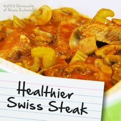 Recipes for Diabetes: Healthier Swiss Steak