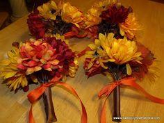 fall cascading wedding bouquet | Fall Bouquets!