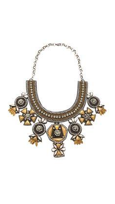 Deepa Gurnani Multi Drop Necklace statement necklace