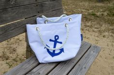 Anchor Sail Bag by Harbor Bags Nautical Bags and Totes www.Harbor-Bags.com