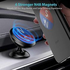 Car Mount Holder, Car Holder, Phone Cradle, Cell Phone Mount, Smartphone, Magnetic Phone Holder, Iphone 5s, 6s Plus, Cell Phone Accessories