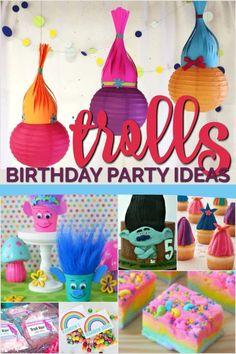 A Trolls birthday party is a great choice for anyone who can appreciate a colorful, cheerful, and happy party scene. Recreate the magic of Troll Village with 21 inspiring Trolls birthday party ideas sure to 50th Birthday Party Decorations, Lego Birthday Party, Frozen Birthday Party, 3rd Birthday Parties, 2nd Birthday, Trolls Birthday Party Ideas Cake, Birthday Ideas, Unicorn Birthday, Birthday Cakes