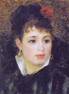 Pierre-Auguste Renoir - A.Renoir, Woman with Rose Pierre Auguste Renoir, Claude Monet, Manet, August Renoir, Renoir Paintings, Impressionist Artists, Edgar Degas, French Artists, Beautiful Paintings