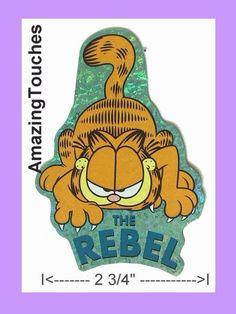 TWO  Sandylion GARFIELD Cat Die Cut Sticker C1-076-2