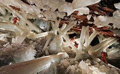 Mexico's Cueva de los Cristales - a thousand feet below Naica mountain in the Chihuahuan Desert