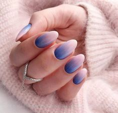 Nails, acrylic short oval nails design for summer nails, cute natural oval Ombre Nail Designs, Short Nail Designs, Acrylic Nail Designs, Nail Art Designs, Nails Design, Toe Designs, Acrylic Nails Natural, Oval Acrylic Nails, Oval Nail Art