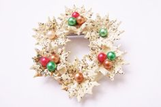 Wonderful Antique Carved Celluloid Lace Christmas Wreath