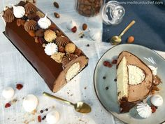 Bûche de Noël coco chocolat, façon bounty - Meilleur du Chef