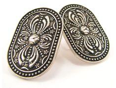 Anatolia Earrings | The Family Jewels Family Jewels, Byzantine, Jewellery, Earrings, Silver, Ear Rings, Jewels, Stud Earrings, Schmuck